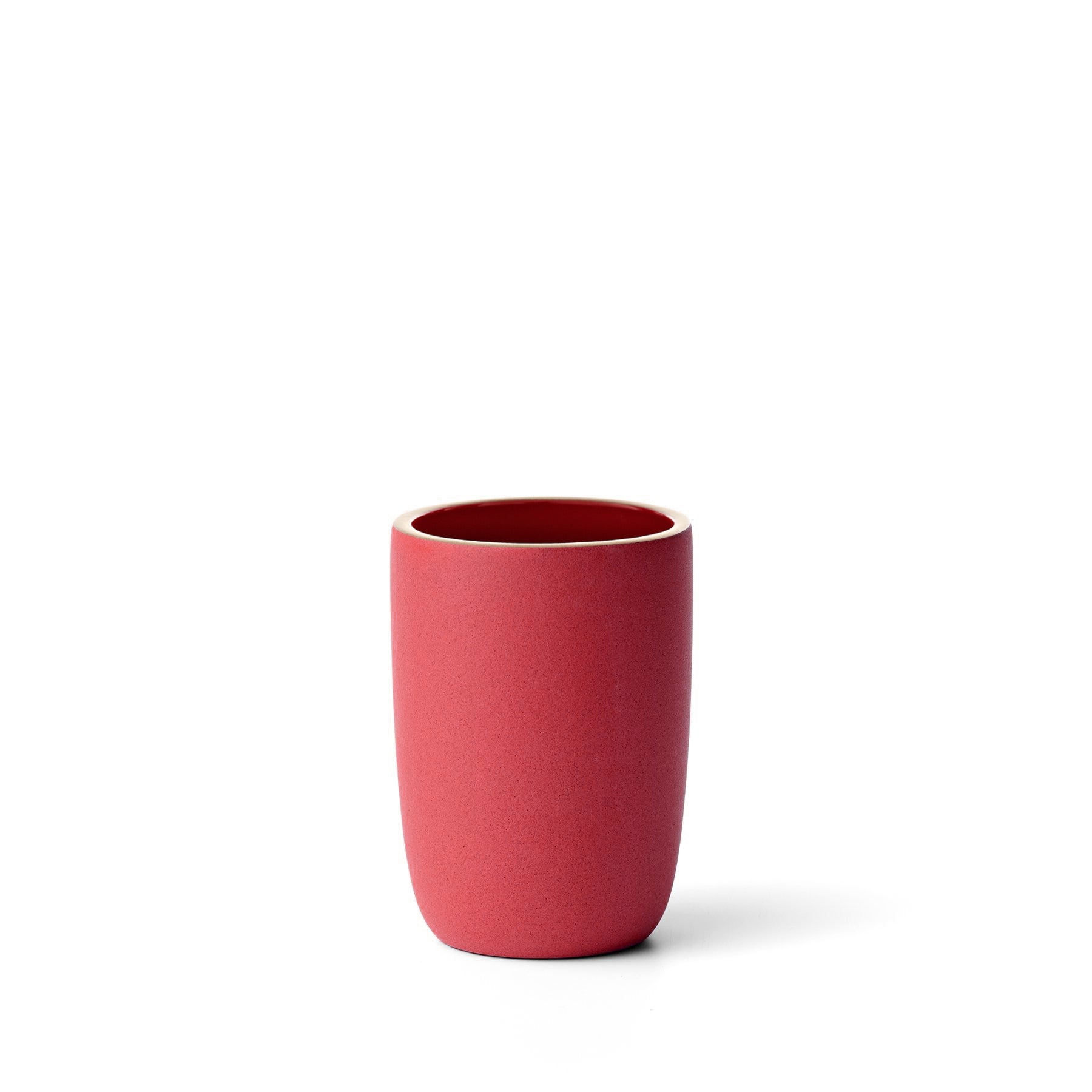Tall Modern Cup in Ruby Red/Suede Red Zoom Image 1