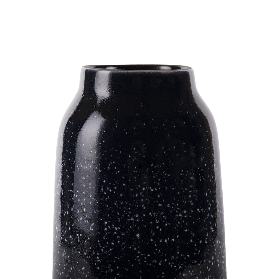 Tall Vase in Midnight and Opaque White Image 3