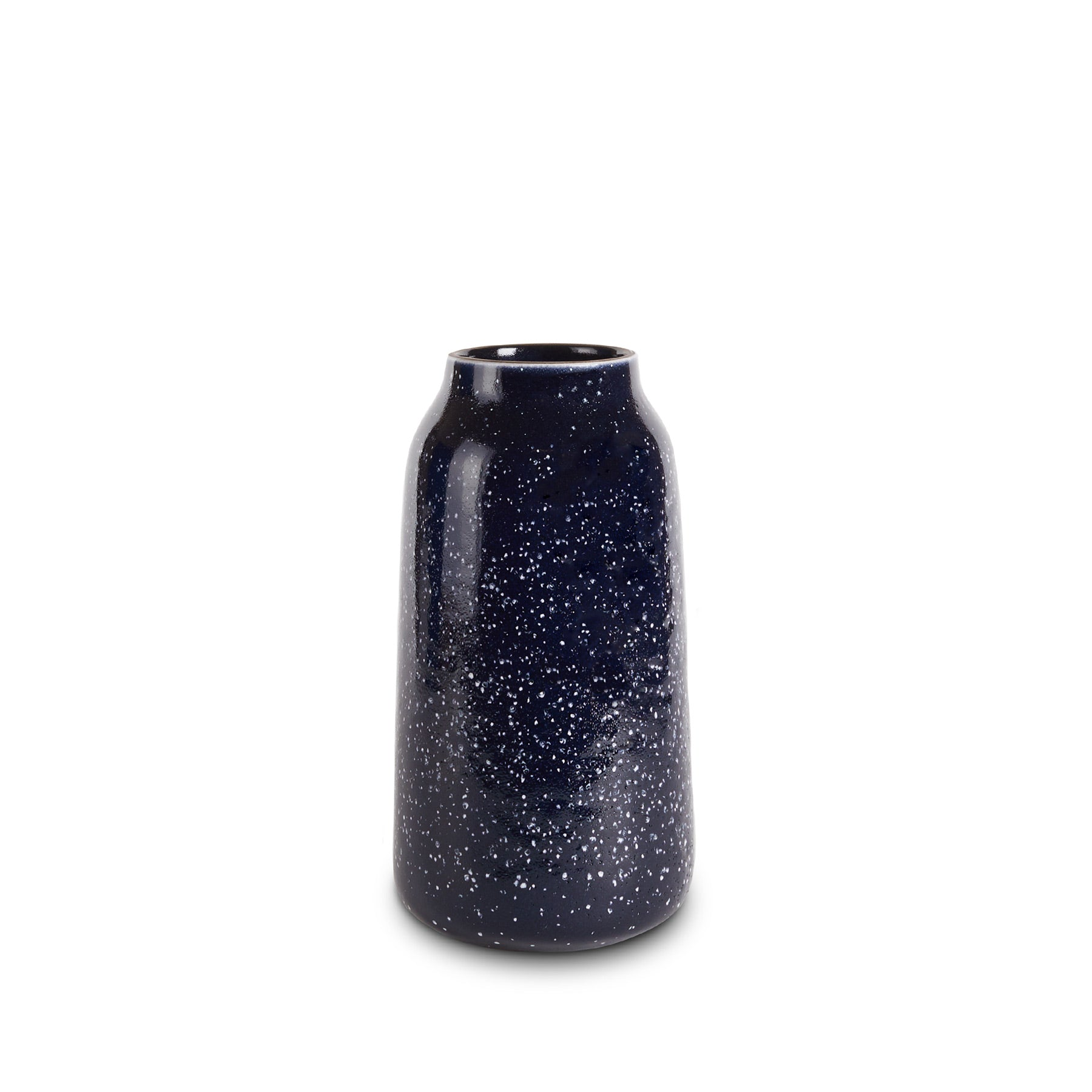 Tall Vase in Midnight and Opaque White Zoom Image 1