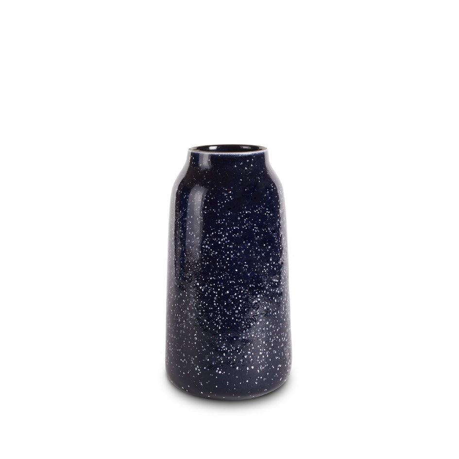 Tall Vase in Midnight and Opaque White Image 1