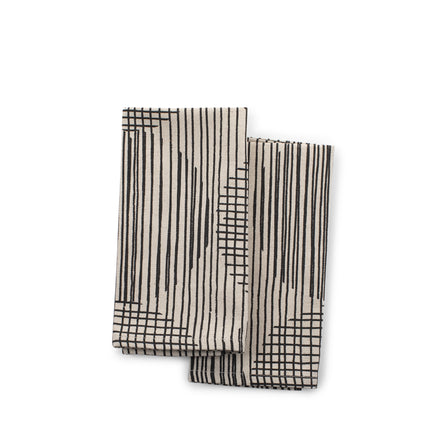 Block Circle Napkins in Licorice (Set of 2)