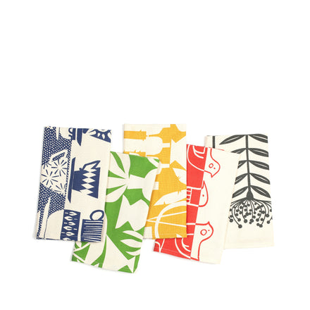 Cotton-Linen Printed Tea Towels