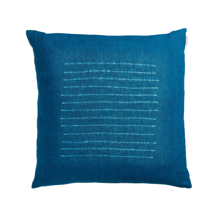 Thin Stripe Pillow in Indigo