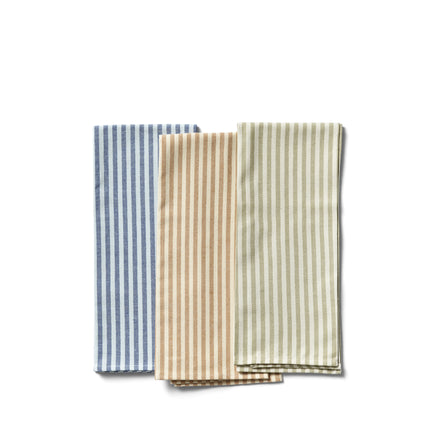 Organic Cotton Ticking Stripe Tea Towel