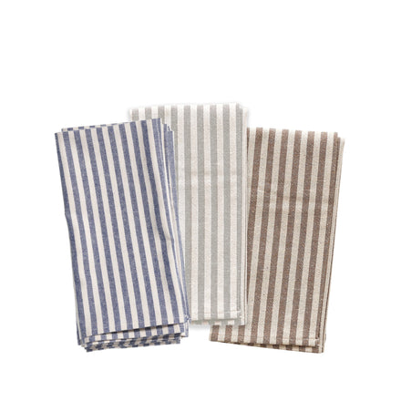 Organic Cotton Ticking Stripe Napkins (Set of 4)