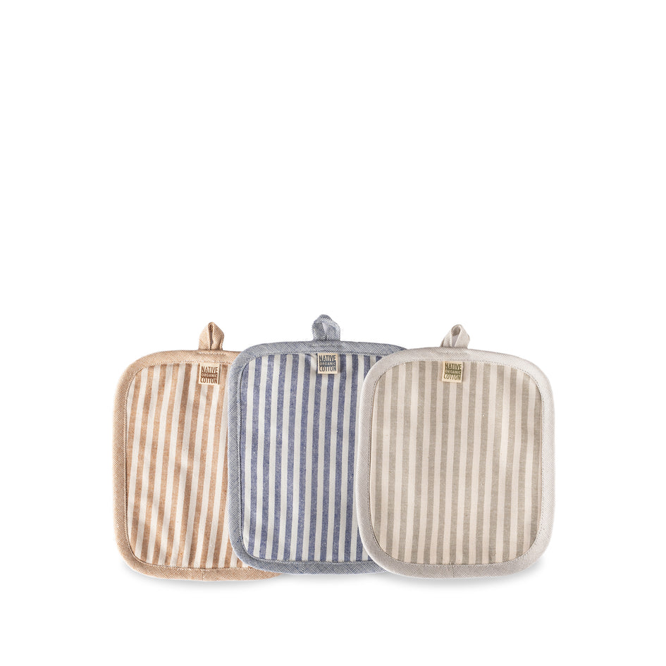 Organic Cotton Ticking Stripe Potholder Image 2