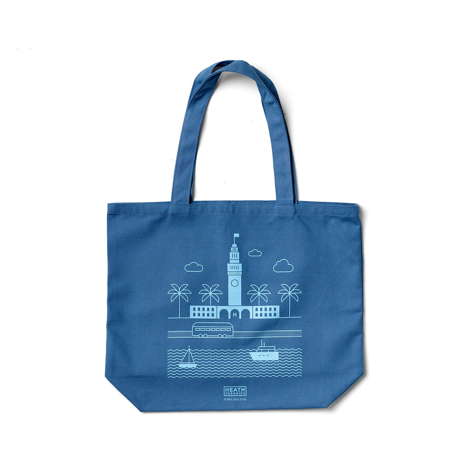 Ferry Building Tote in Bright Blue Image 1