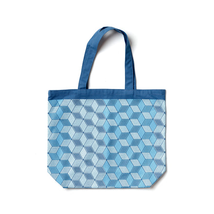 Mural Tote in Bright Blue