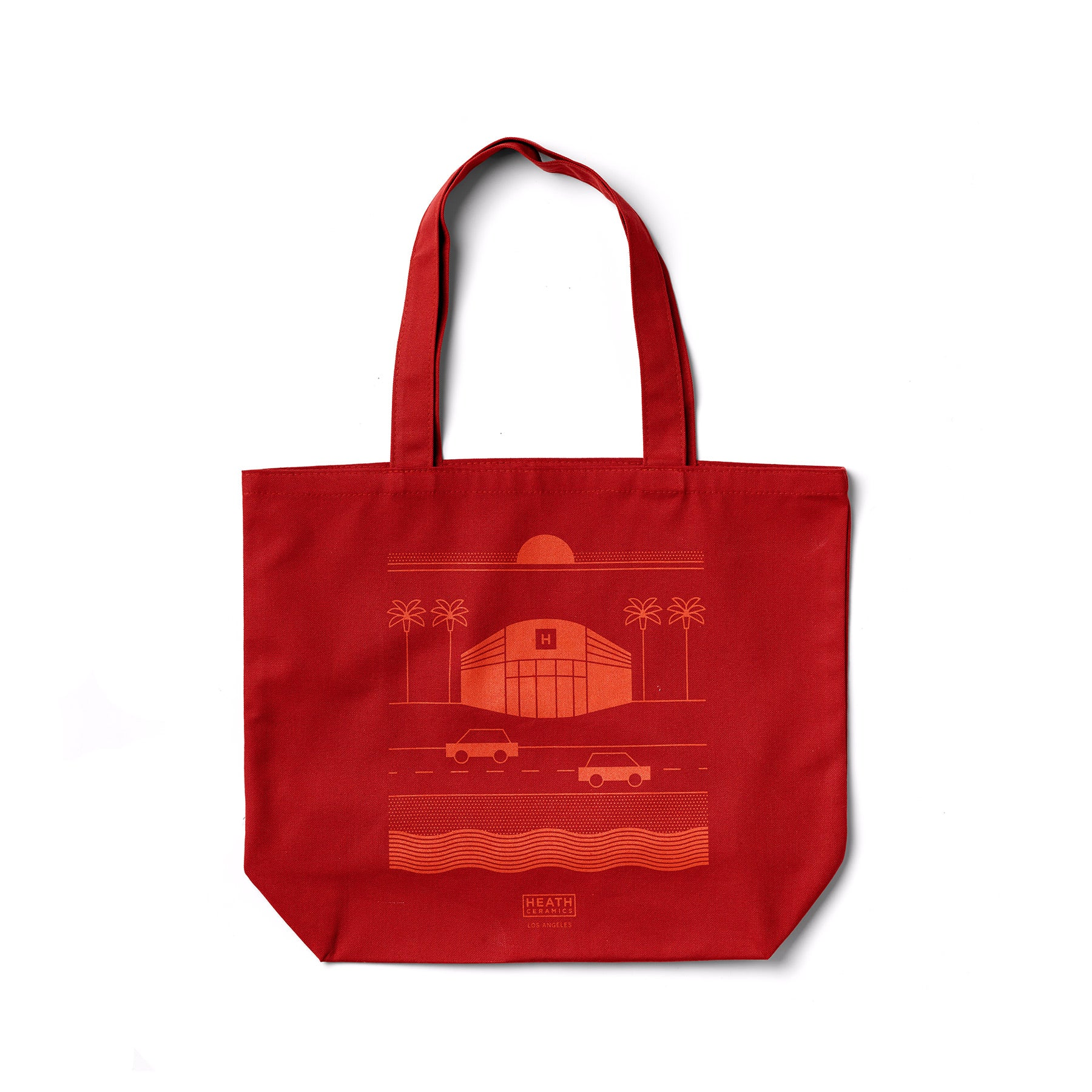Los Angeles Tote in Red Orange Zoom Image 1