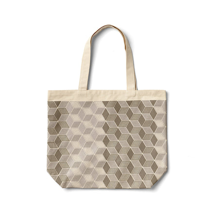 Mural Tote in Warm Grey