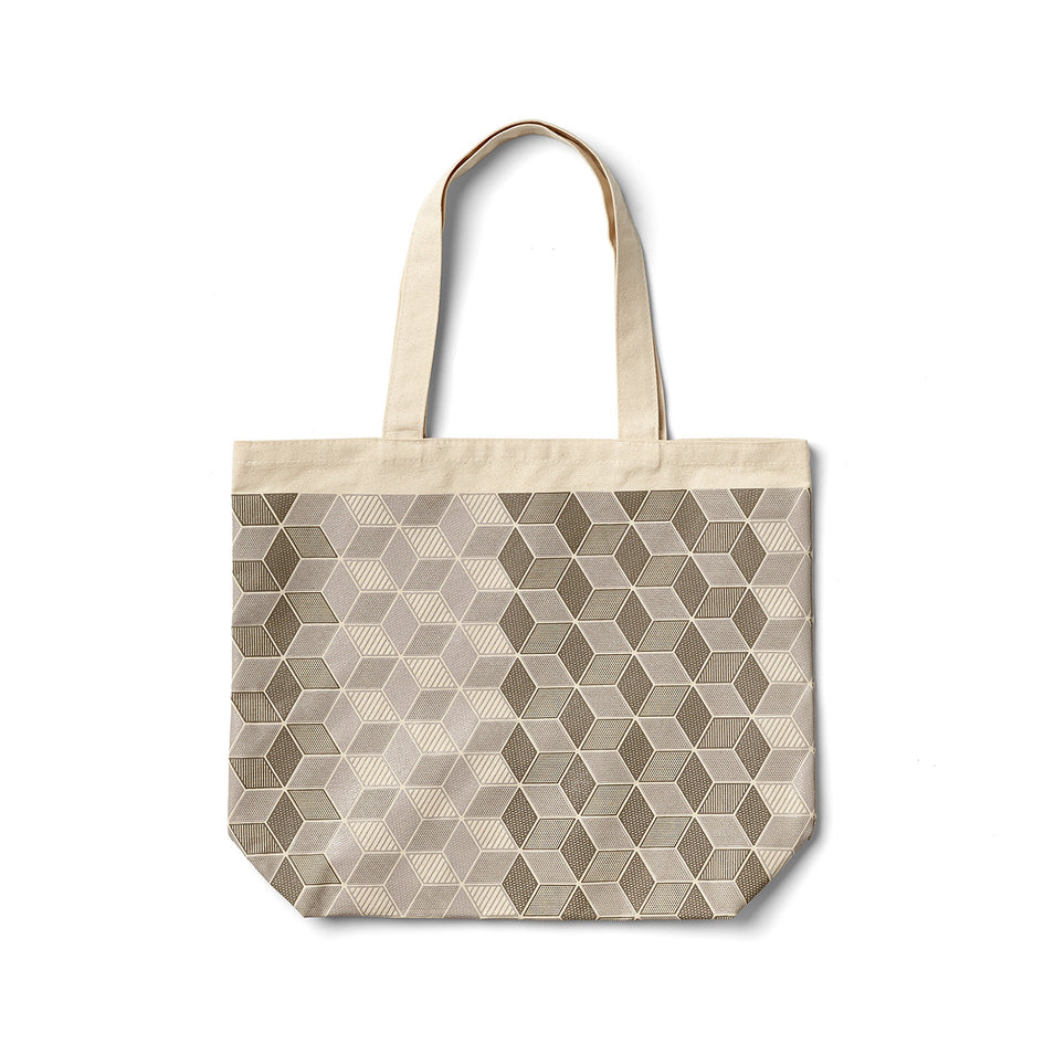 Mural Tote in Warm Grey Image 1