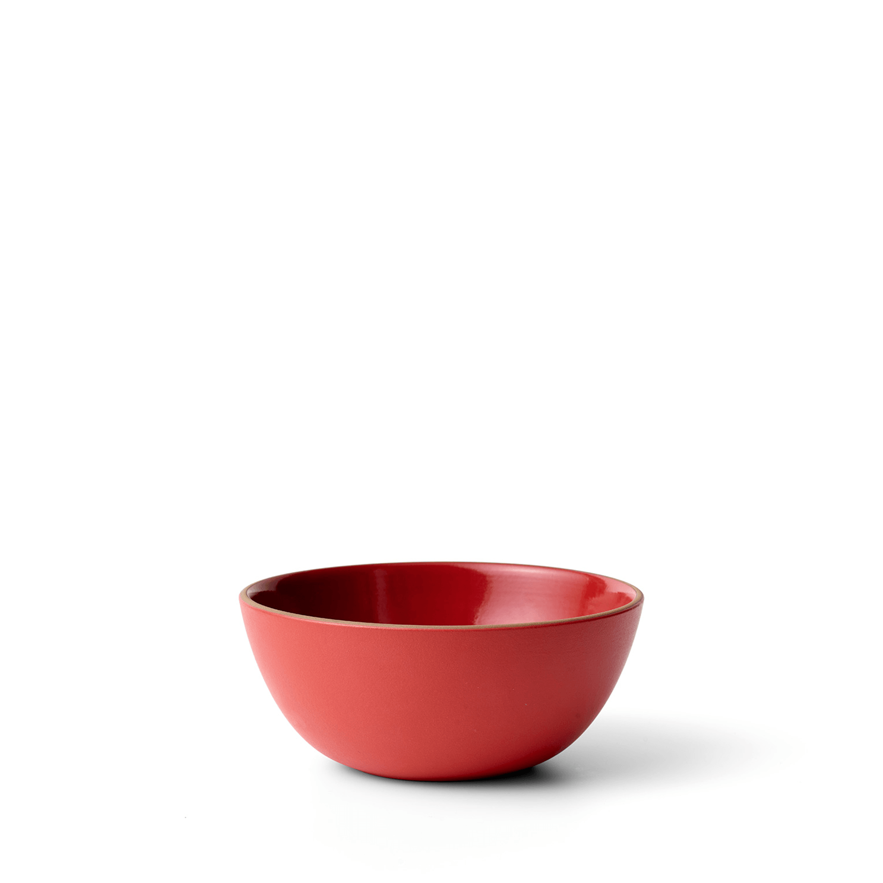 Vegetable Bowl in Ruby Red/Suede Red Zoom Image 1