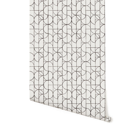 Wallpaper in Charcoal Slice