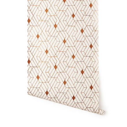 Wallpaper in Copper Quilt