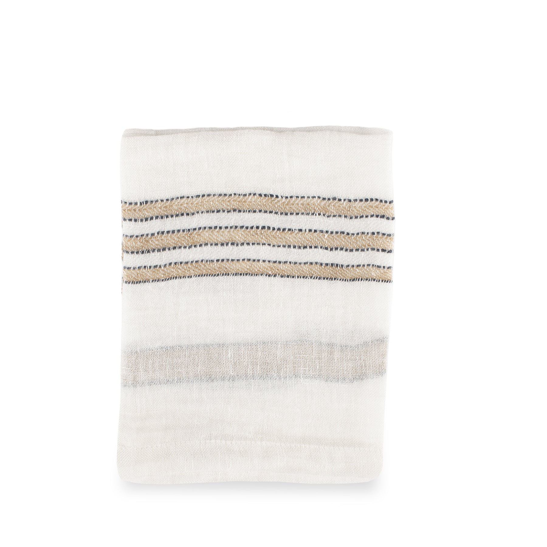 West Hinder Napkin in Wheat Stripe Zoom Image 1