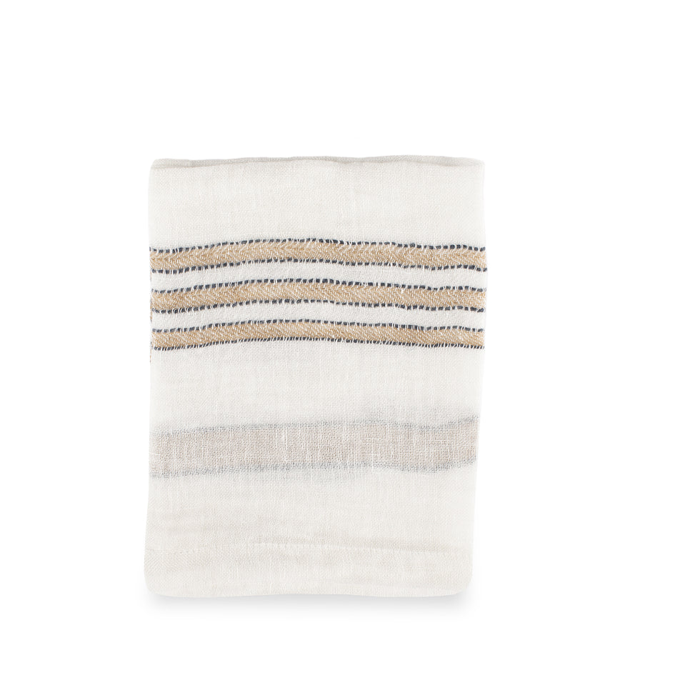 West Hinder Napkin in Wheat Stripe Image 1