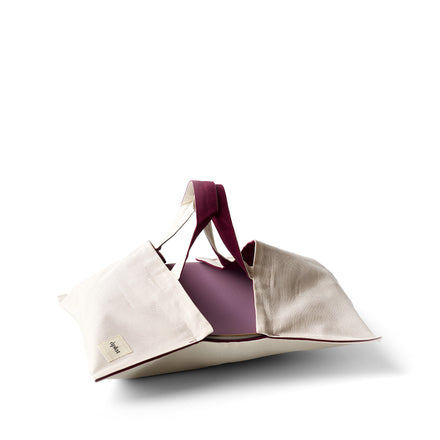 Wide Culinary Tote in Plum