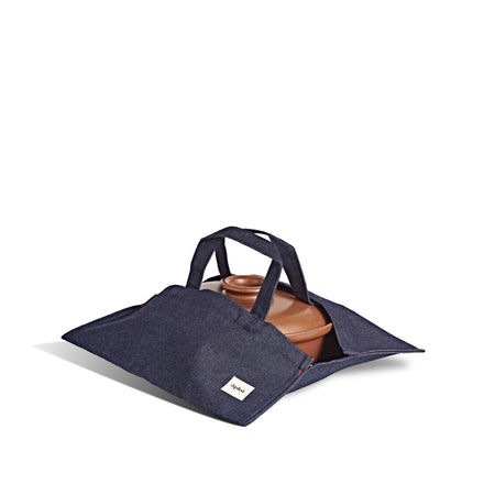 Wide Tote in Denim