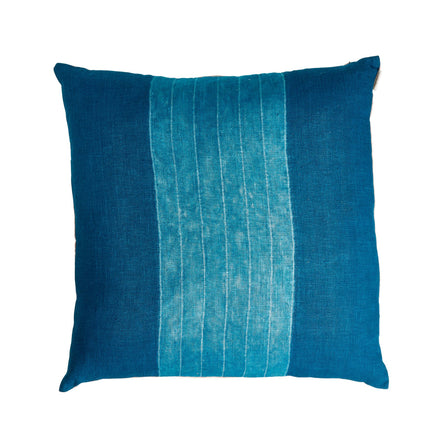 Wide Stripe Pillow in Indigo