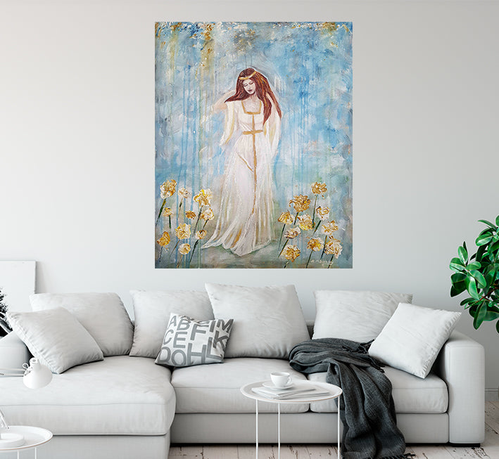 Freya Goddess Of Love And Beauty Abstract Painting By Artist Andrea M Binkley