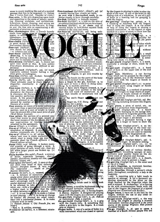 Vogue magazine cover vogue dictionary art vogue vintage art print dictionary page black and white fashion art print vogue poster gift
