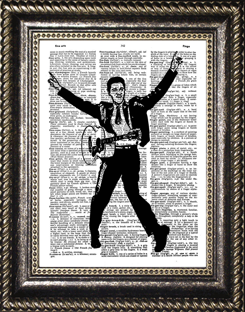 Elvis Presley Art Dictionary Print Poster Gift Decor
