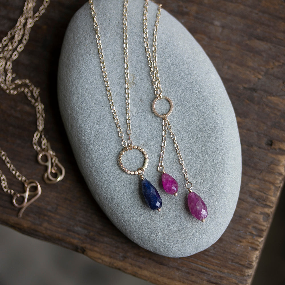 Rebecca Haas Jewelry - 14k & sapphire necklaces