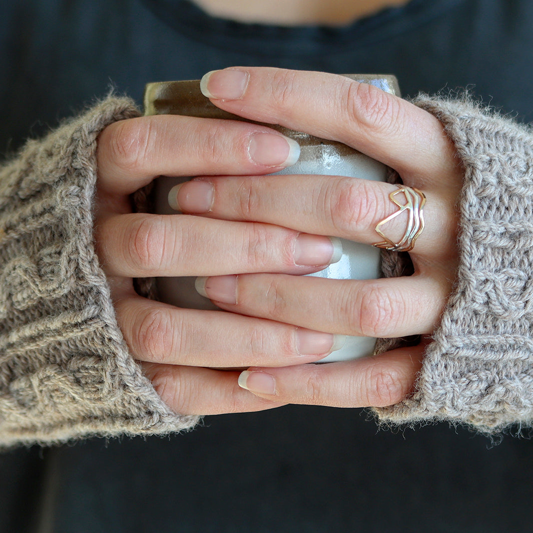 Rebecca Haas Jewelry - Rings with fingerless glove