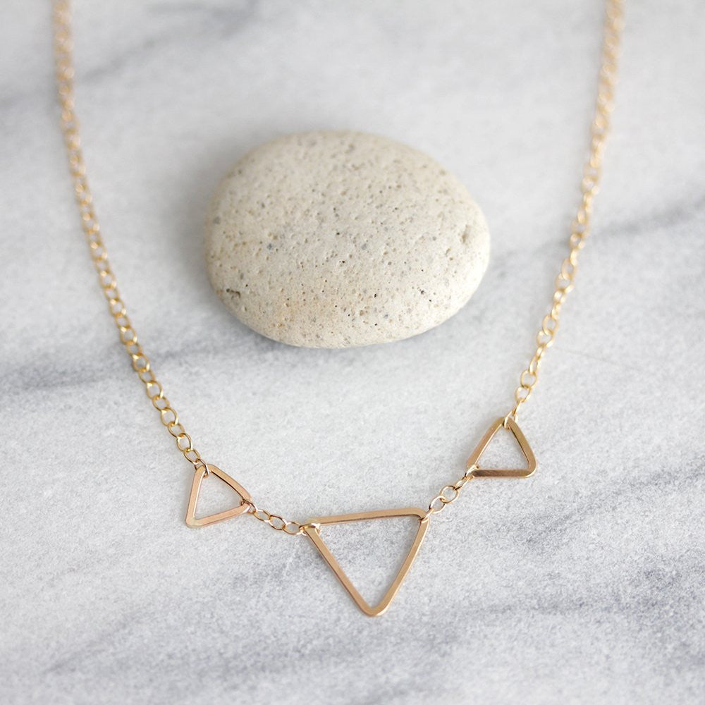 Pennant Necklace - Delicate Geometric Design