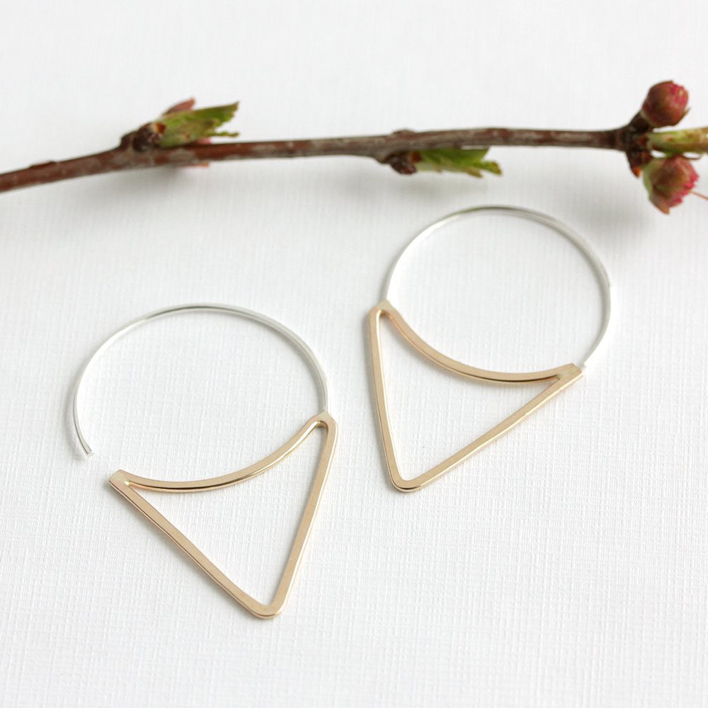 Elam Hoops, Minimal and Modern Triangle Earring Design For Everyday Style