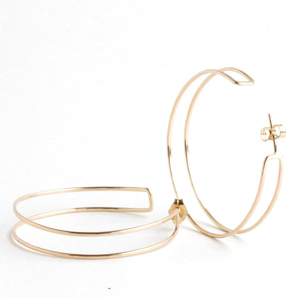 Mero Hoops - Minimal Geometric Double Hoop Design - Two Sizes Available