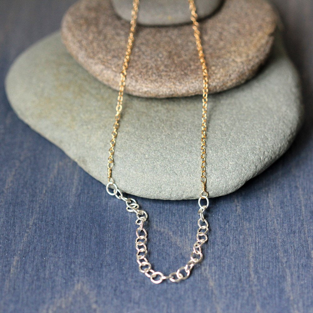Slip Necklace - Simple Mixed Chain Necklace, Great for Layering