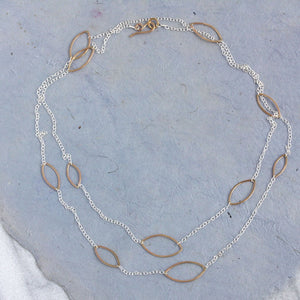 Mystic Necklace: Long Necklace With Multiple Ellipses Design Adjustable Length