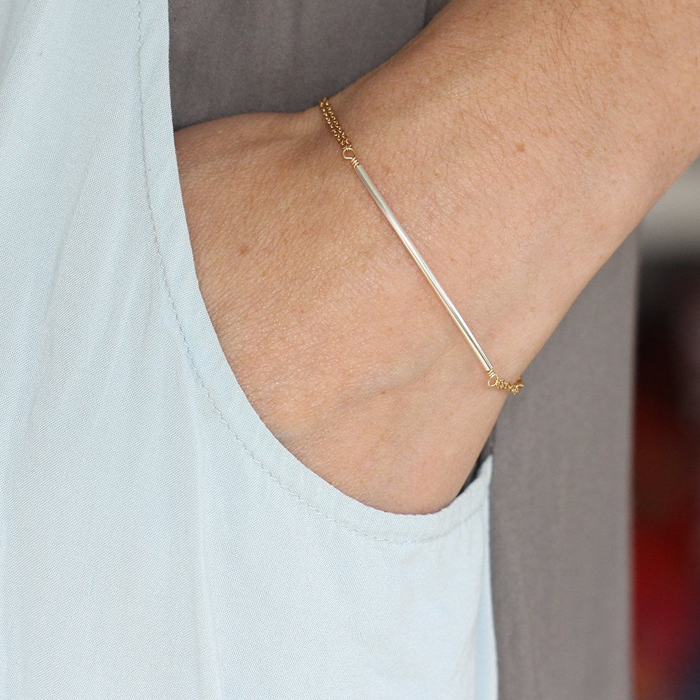 Fleet Bracelet - Simple Tubing Bracelet with Chain
