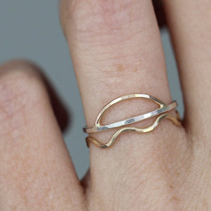 Sunrise Ring - Simple Geometric Stacking Band