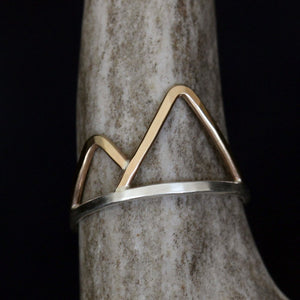 Black Forest Ring - Handmade Design With Mountain Range Silhouette
