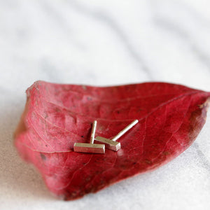 Bit Studs - Modern T Bar Post Earrings made from Recycled Sterling Silver