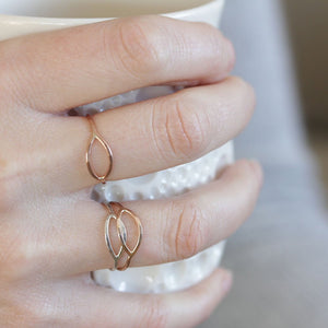 Ojo Ring - Eye Shape Stacking Ring