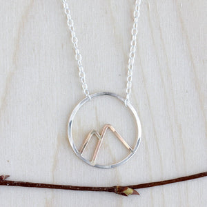 Peaks Necklace - Simple Nature Inspired Mountain Pendant