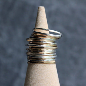 Pinstripe Stacking Rings