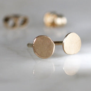 Perfect Posts - Classic Circle Post Earrings Handmade From Recycled 14k Gold or Sterling SIlver
