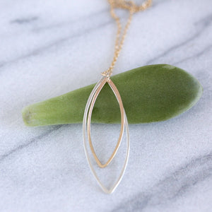 Aster Necklace - Handmade Geometric Pendant on a Delicate Chain
