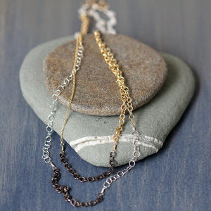Tapestry Necklace - Double Wrapping Necklace of Many Different Chains