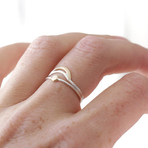 Crescent Moon Ring - Boho Modern, Great for Stacking