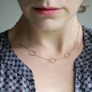 Collette Necklace - Delicate Chain With Simple Oval Details