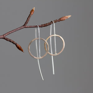 Bisected Circle Threader Earrings