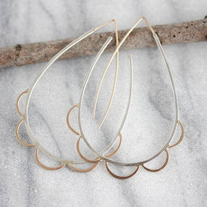 Boho Teardrop Hoop Earrings