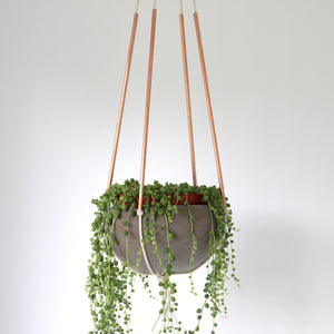 Modern Copper and Cotton Plant Hanger
