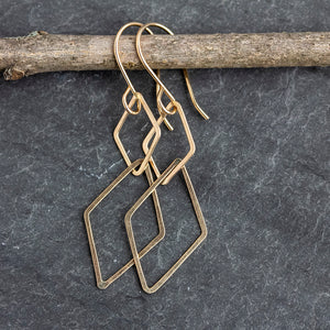 Linked Diamond Drop Earrings
