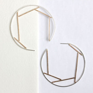 Fragment Hoop Earrings